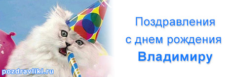 Открытка с днем рождения мужчине владимиру владимировичу, именинами